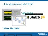 Introduction to lab view 8.6 in 3 h...