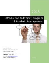 Introduction to project, program & ...