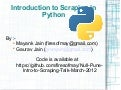 Introduction to python scrapping