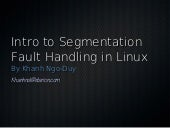 Introduction to segmentation fault ...