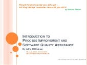 Introduction to Process Improvement...