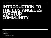 Introduction to the Los Angeles Startup Community