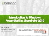 Introduction to windows power shell...