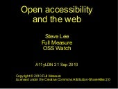 Open accessibility – why is 'open' ...