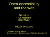 Open accessibility – what does 'ope...