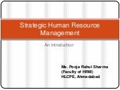 Introduction to Strategic HRM
