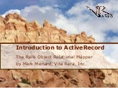 Intro to Rails ActiveRecord