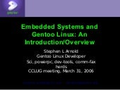 Intro To Gentoo Embedded Cclug