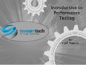 An Introduction to Performance Testing
