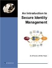 Intro To Secure Identity Management