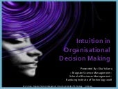 Intuition In Organizational Decisio...