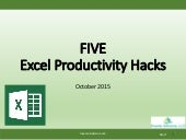 Five Excel Productivity Hacks