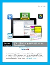 Invenio iPad Content Management Goo...