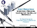 Cost Reduction: Inventively Reducing the Cost of the Bill of Materials