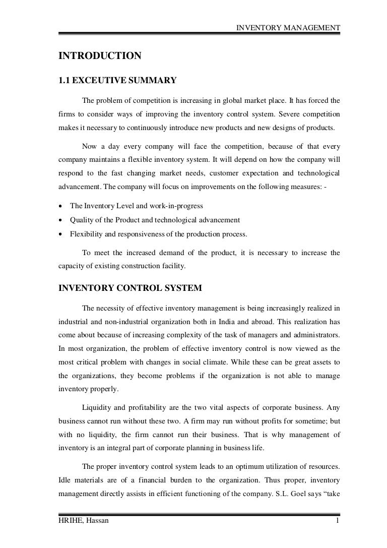 Inventory management review of literature