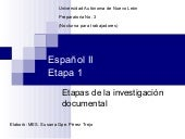 Pasos de la investigación documental