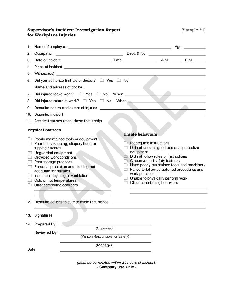 Free Accident Report Form Template. Printable Sample Police Report