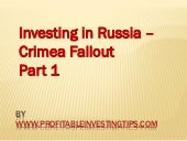 Investing in Russia - Crimea Fallou...