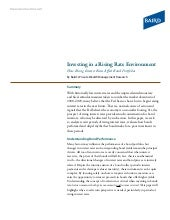 Investing in a Rising Rate Environm...