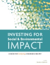 Investing for Social and Env Impact