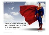 Investment appraisal and company valuation methods