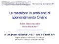 Le metafore in ambienti di apprendimento Online