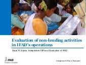IFAD IOE: Evaluation of non-lending activities in IFAD's operations