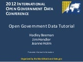 IOGDC Open Data Tutorial