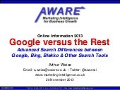 Google vs the Rest: Advanced Search on Google, Bing & other Search Engines
