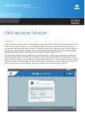 iON Education factsheet Education ERP Alumni Management Learning Management