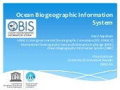 Introduction to OBIS at 2nd Int Ocean Research Conference 2014