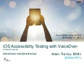 iOS Accessibility Testing with VoiceOver - A Crash Course