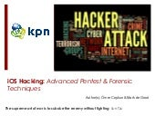 iOS Hacking: Advanced Pentest & Forensic Techniques