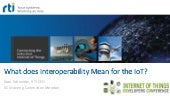 What Does Interoperability Mean for the IoT?