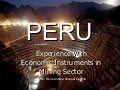 Economic Instruments Mining Industry Peru