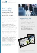 iPad Display Advertising Product Sheet