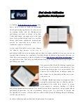 iPad eBooks Publication Application Development