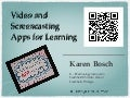 Video and Screencasting Apps for Learning