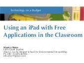 Using an iPad with Free Application...
