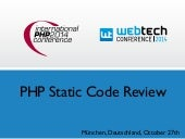 PHP Static Code Review