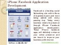 iPhone Facebook Application Development