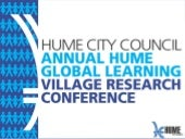 Hume Global Learning Village Annual...