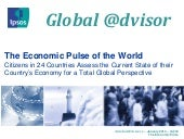 Ipsos Global @dvisor 40: The economic pulse of the world: January 2013