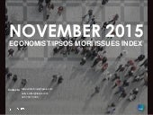 Ipsos MORI / Economist Issues Index: November 2015