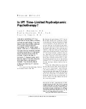 Is IPT time limited psychodynamic p...