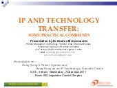 IP & Tech-transfer (7 Dec 2011)