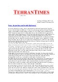 Iran, Argentina, and truth diplomacy, Tehran Times