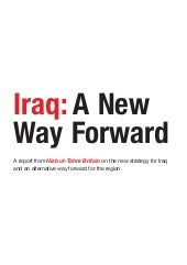 Iraq a new way forward