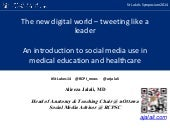 The new digital world – tweeting like a leader #StLukes14