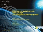 Multi risks in a globalised world: ...